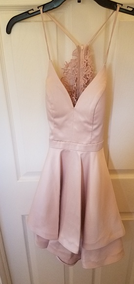 Sequin Hearts Dresses & Skirts - Very light pink homecoming dress